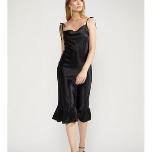 LYDIA CHARMEUSE SLIP DRESS, 100% Silk